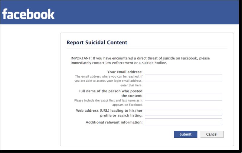 Report 2 Facebook Report Suicide Suicide Facebook Suicide Report Facebook 2 2